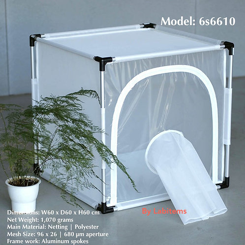 Aluminum framed insect rearing cage