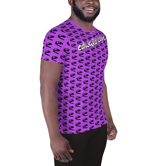 Dino Skull (Neon Green) All-Over Print Men's Athletic T-shirt