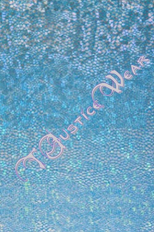 Silver Aqua Blue Hologram
