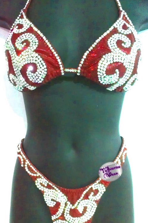 Competition Figure / Physique Suit Isadora Red