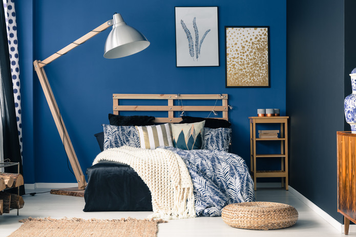 Blue Stylish Bedroom
