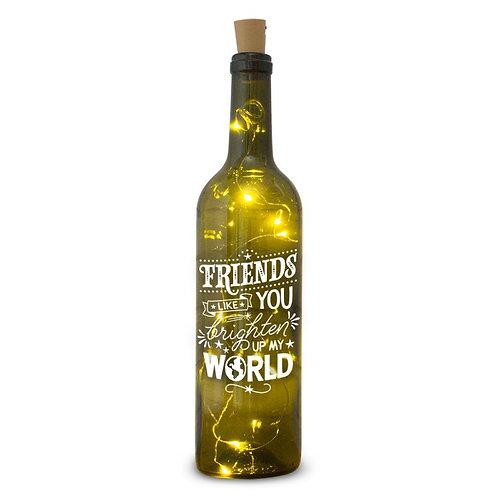 Verlichte wijnfles : verschillende teksten