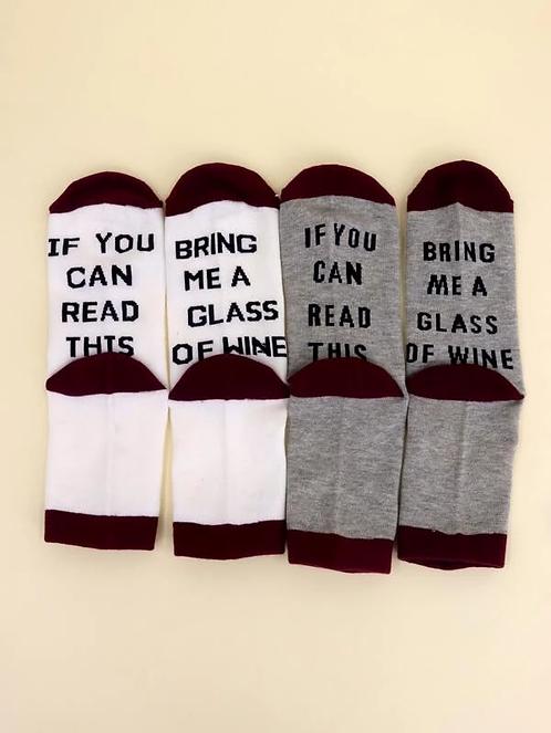 Wijn sokken