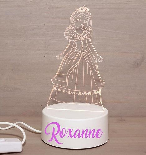 Ledlamp prinses met naam