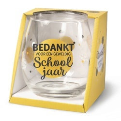 Glas Bedankt voor een geweldig schooljaar