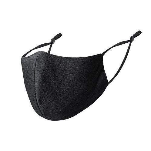Mondmasker zwart met aanpasbaar lint