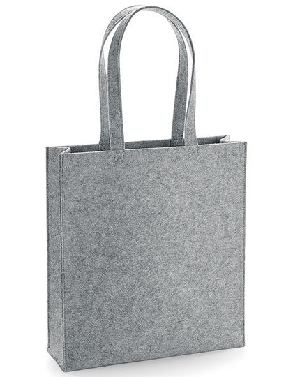 Grijze shopper