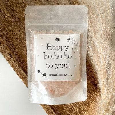 Happy ho hoho to you! (voetenbadzout)