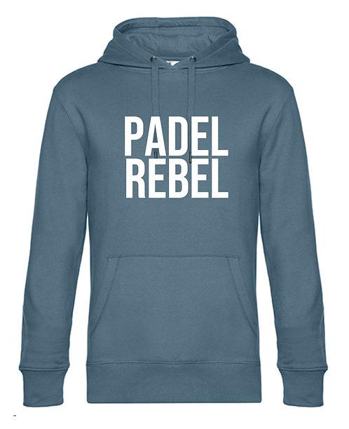 Hoodie Padel Rebel of Padel King in Nordic Blue