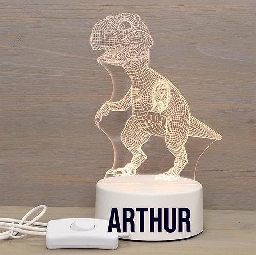 Ledlamp Dino met naam