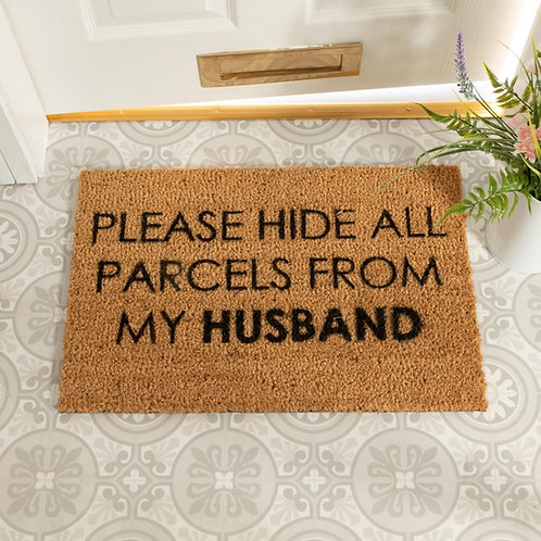 Deurmat Please hide all parcels from my husband