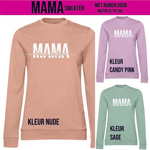 Mama Sweater met namen door