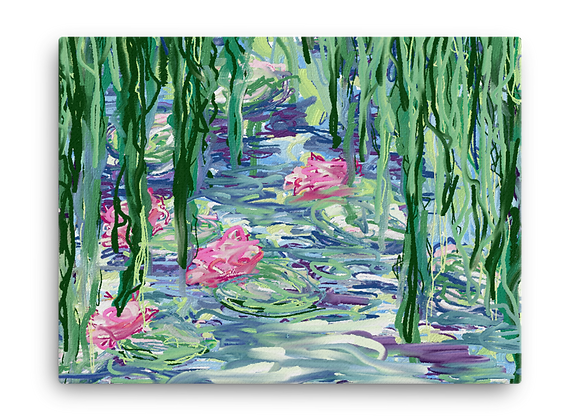 """""""Water Lily"""" 00.1 Canvas"""