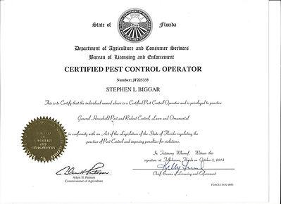 Certified Pest Control Operator