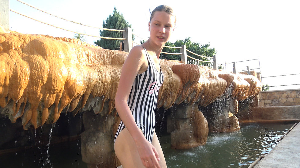 Bathing in a thermal spring