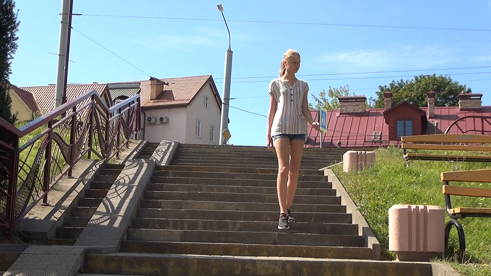 Walking tour of Grodno with brother