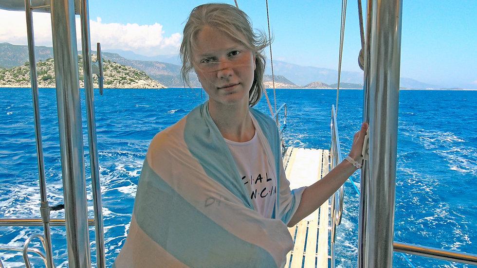 Sailing to the island of Kekova