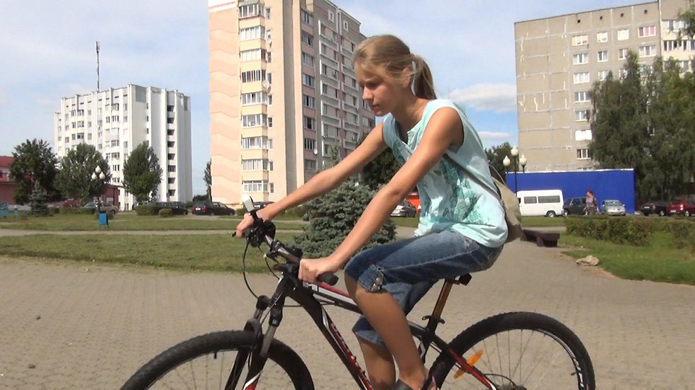 Cycling in the city and in the forest