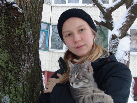 Jan. 7. Walk with the cat.