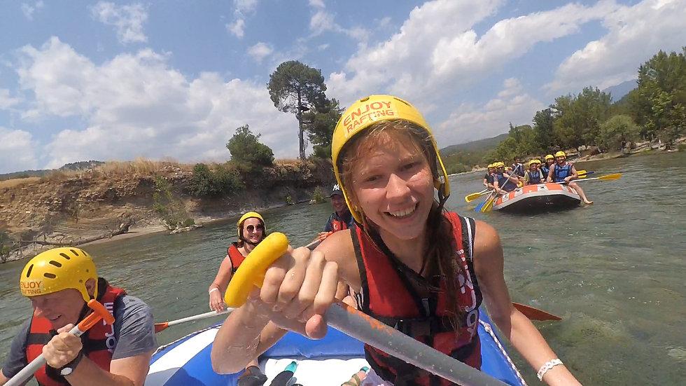 Turkey. Rafting 2021 shooting action camera