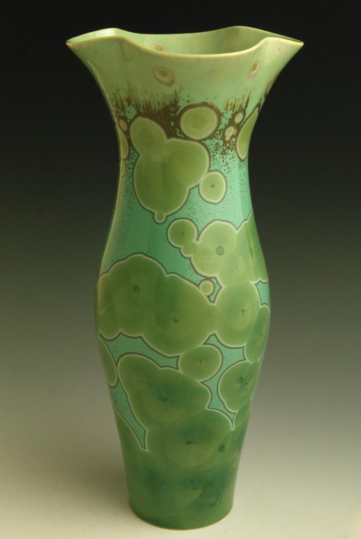 "Green Vase - 10 ½"""