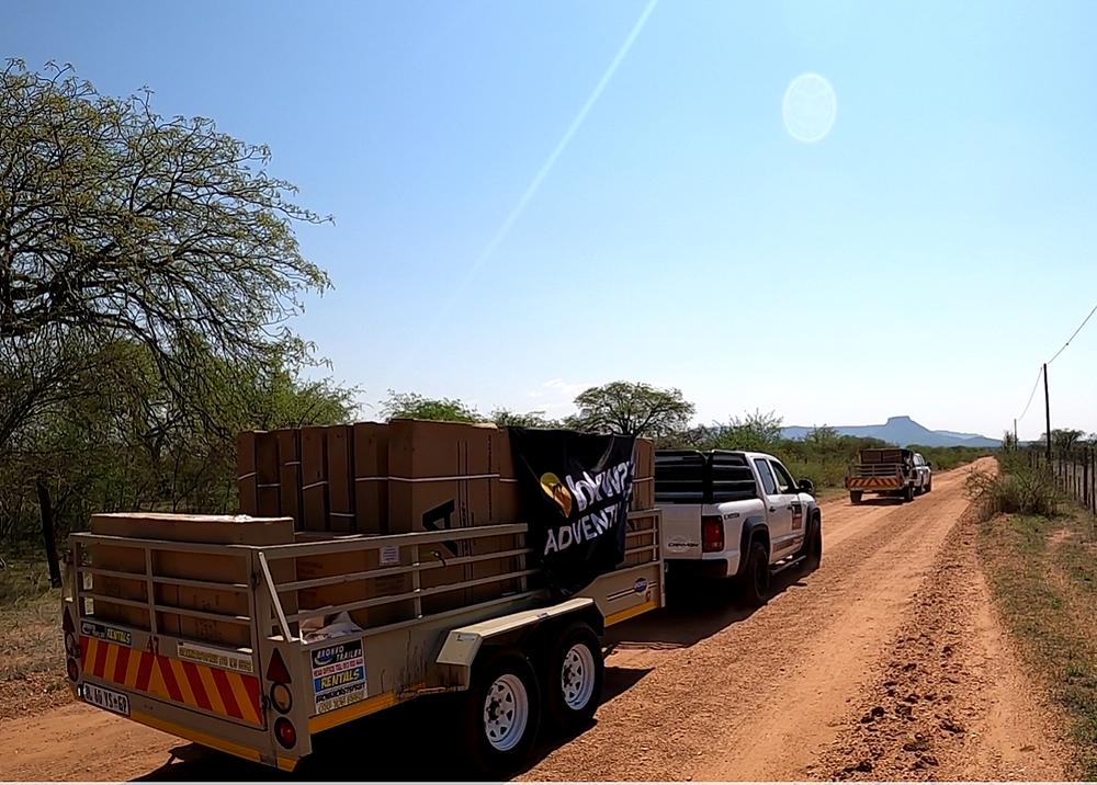 Bakkies with trailers delivering bicycles