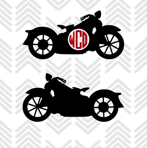 Motorcycle Monogram Decal