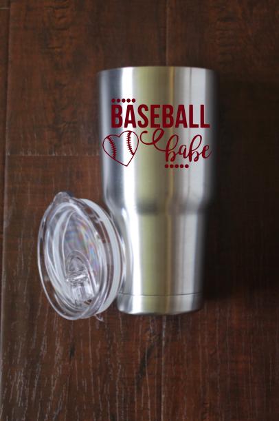 Baseball Babe Decal