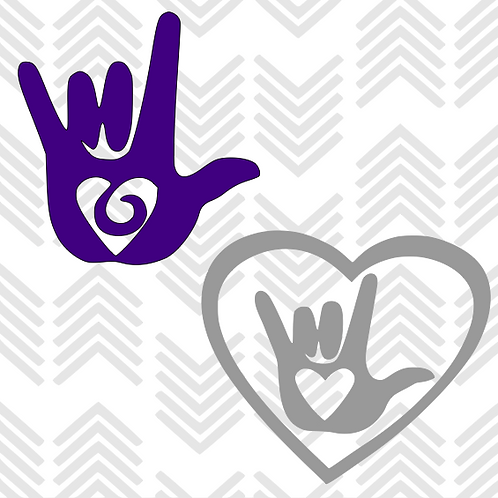 "Sign Language ""I love you"" Decal"