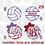 Thumbnail: Volleyball Monogram Decal