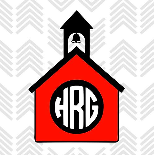 Schoolhouse Monogram Decal