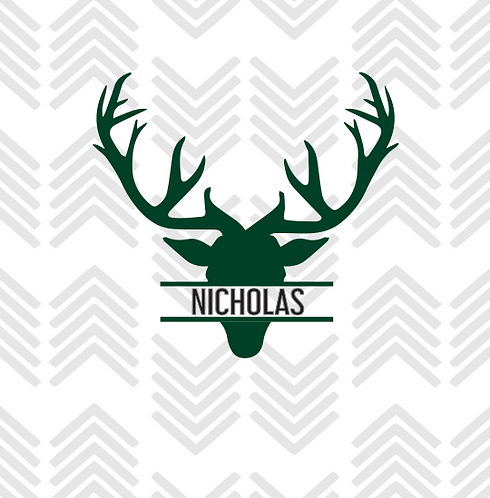 Deer Head Personalized Decal