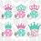 Thumbnail: Crown Monogram Decal
