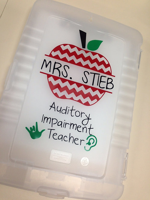 Sign Language Teacher Apple Decal