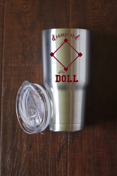 Diamond Doll Baseball Decal