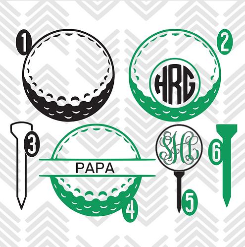 Golf Monogram Decal