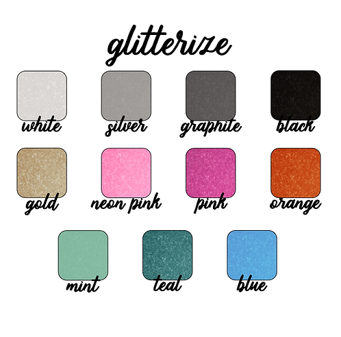 ADD ON: Glitter Vinyl for Decal