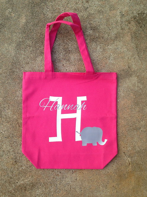Elephant & Name Iron-On