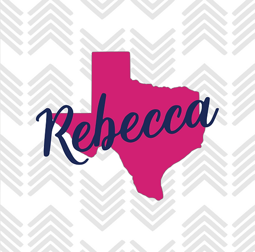 Texas Personalized Decal