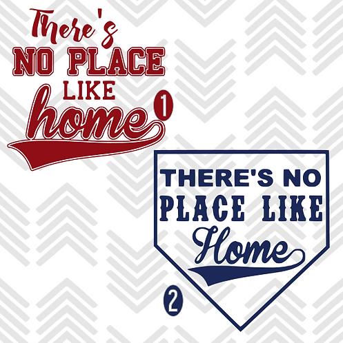 There's No Place Like Home Baseball Decal