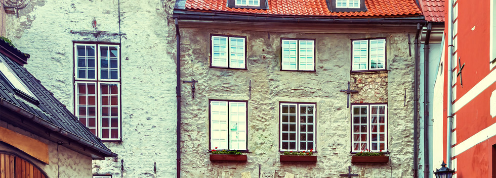 Medieval motifs in old Riga city. For to