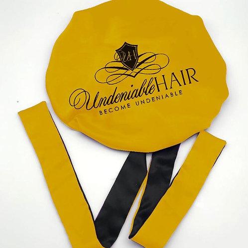 UndeniableHair Double Layer Long Tie Silk Bonnet