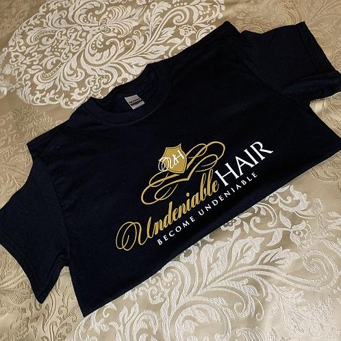 UndeniableHairKE Black T-Shirt