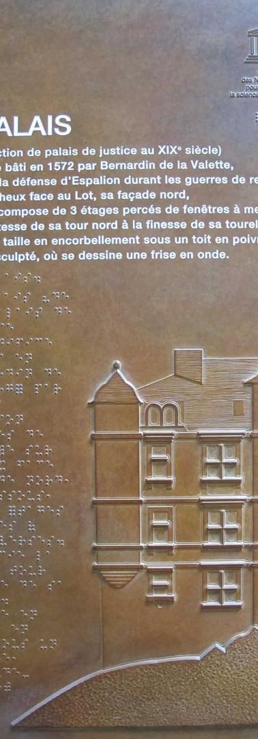 Plaque tactile Vieux Palais