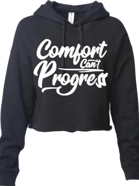 Women's Cropped Comfort Can't Progress Hoodie