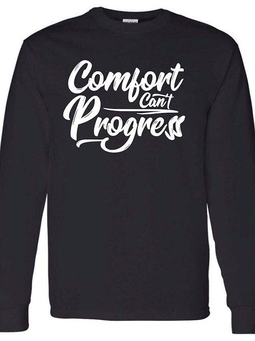 Comfort Can't Progress Mens Long Sleeve Tee