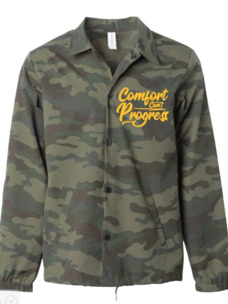 Camo Comfort Can't Progress Coaches Jacket