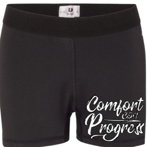 Comfort Can't Progress Womens Compression Shorts