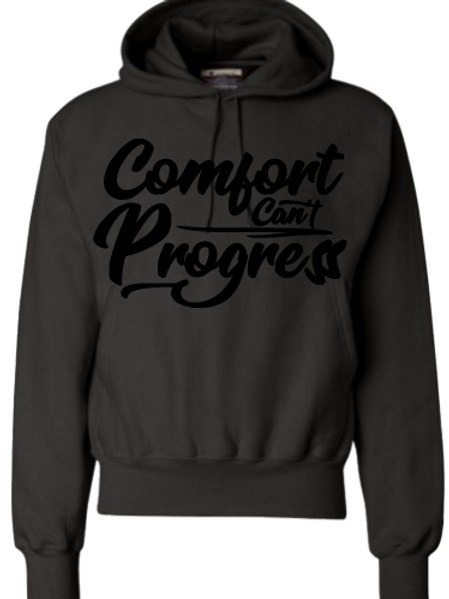 Black On Black Comfort Can't Progress Hoodie