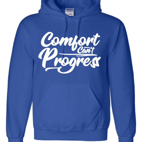 Royal Blue Comfort Can't Progress Hoodie